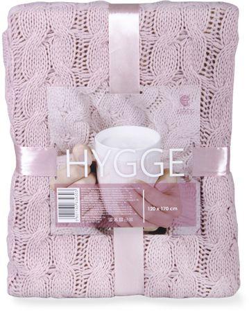 My Best Home koc z mikrofibry Hygge 120 x 170 cm, różowy