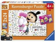 Ravensburger sestavljanka Despicable me 3 - Agnes in Minioni, 2 x 24 kos