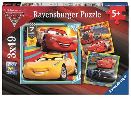 Ravensburger Puzzle Disney Auta Przygoda na drodze