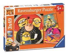 Ravensburger sestavljanka Despicable Me 3: Minioni, 3 x 49 delov