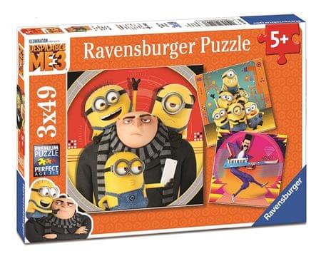 Ravensburger Puzzle Minionki Jak ukraść Księżyc 3 (3 x 49 elementów)