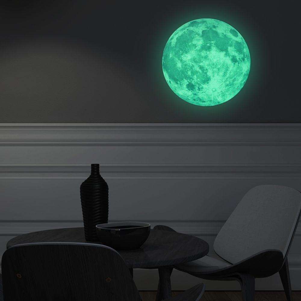 Walplus Ve tmě svítící měsíc FL1073
