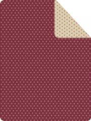 Ibena Deka hvězdičky červená 150x200 cm
