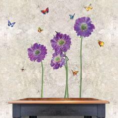 Walplus Fialové květiny WS4013