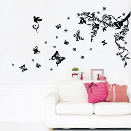 Walplus Čierne motýle WS5036