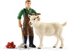 Schleich Farmer z kozą Schleich