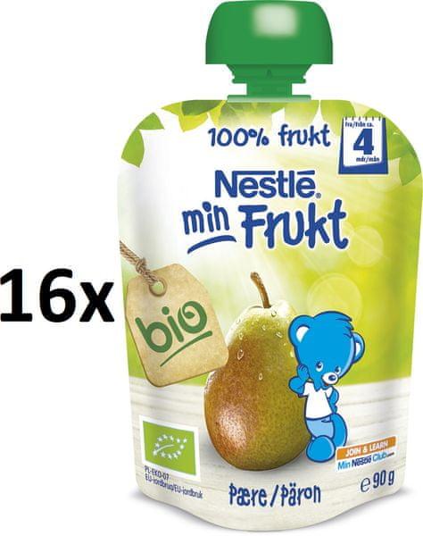 Nestlé BIO kapsička Hruška 16x90g