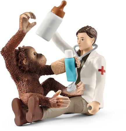 Schleich Veterinár s opicou