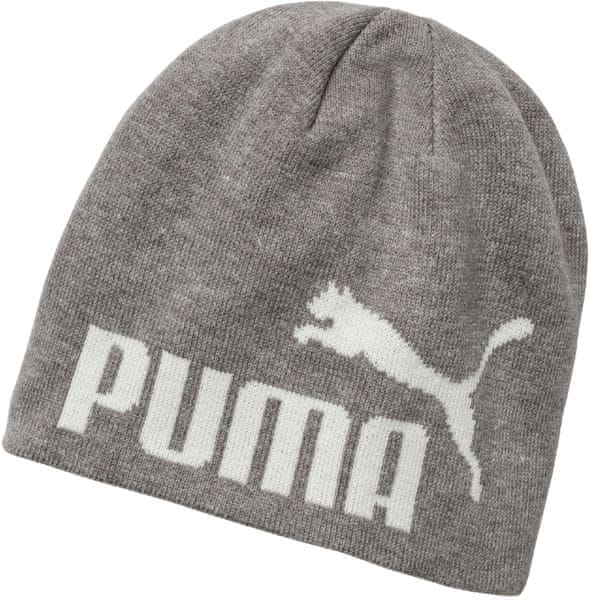 Puma ESS Big Cat Beanie Light Gray Heather white KIDS