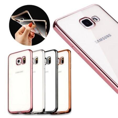 Silikonski ovitek z okvirjem za Samsung Galaxy J5 2017 J530, temno siv