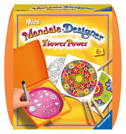 Ravensburger Mini Mandala zestaw do rysowania - kwiaty