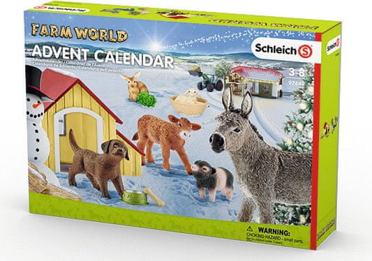 Schleich Adventní kalendář Schleich 2017 - Domácí zvířata 97448