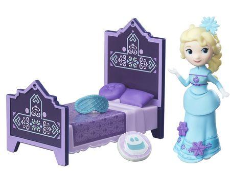 Disney Frozen Kraina Lodu Mini Elsa z łóżkiem
