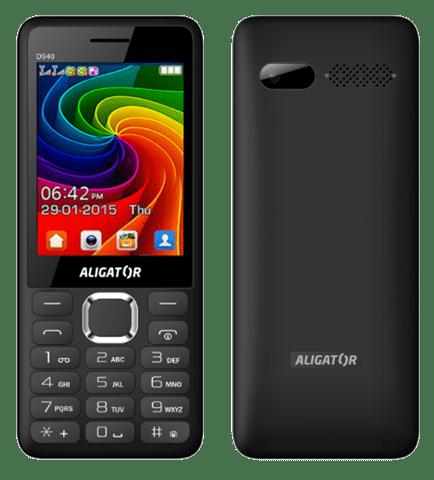 Aligator D940, Dual SIM, černý