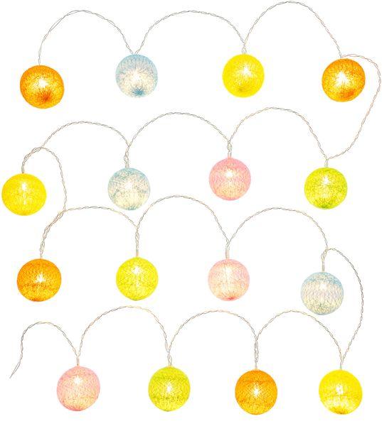 Retlux vlněné koule barevné 16 LED teplá bílá