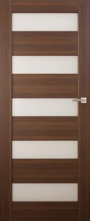 VASCO DOORS Interiérové dveře SANTIAGO kombinované, model 7, Merbau, A