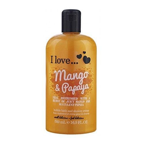 I Love Cosmetics Koupelový a sprchový krém s vůní manga a papáji (Mango & Papaya Bubble Bath And Shower Creme) 500 ml