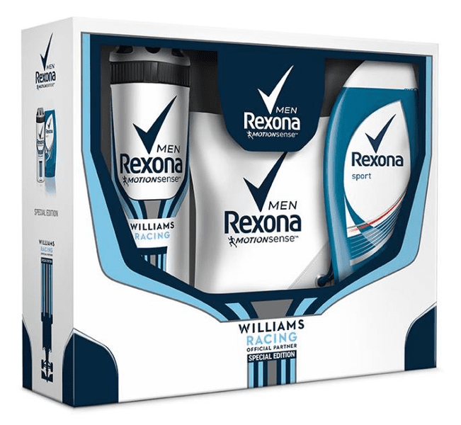 Rexona Williams Racing kazeta s vakem na záda pro muže