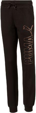 Puma Style Sweat Pants Closed FL Cotton Black 104