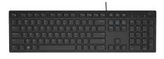 DELL KB-216 česká multimediální klávesnice, černá (580-ADGP)