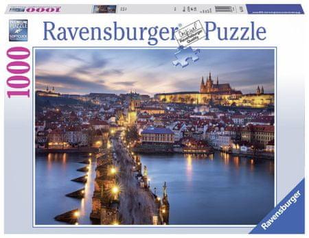 Ravensburger sestavljanka Praga ponoči, 1000 delov