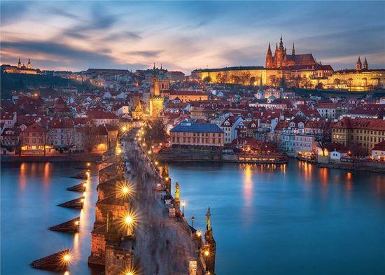 Ravensburger puzzle Praga nocą, 1000 elementów