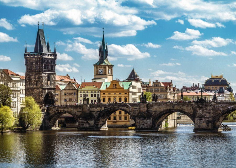 Ravensburger Praha: Pohled na Karlův most 1000 dílků