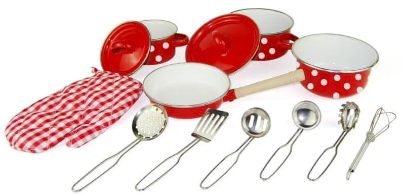 Woody Červené kuchyňské nádobí s chňapkou