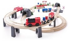 Woody set z električnim vlakom, 80 kosov