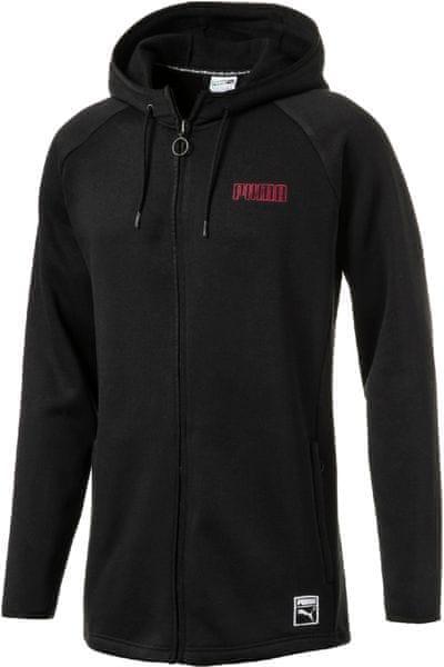 Puma Record Fleece FZ Hoody Black S