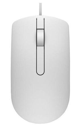 DELL MS116 optická myš, káblová, biela (570-AAIP)