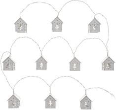 Retlux ozdobny łańcuch z domami 10 LED ciepła biel