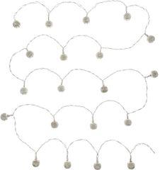Retlux řetěz stříbrné koule 20 LED teplá bílá