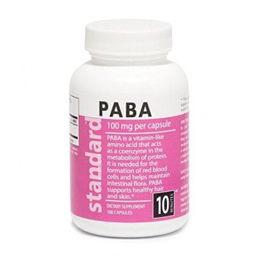 Natural Vitamín B10 PABA 100 mg 100 kapslí