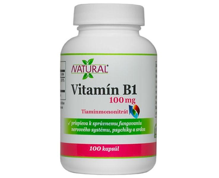 Natural Vitamín B1 100mg 100 kapslí