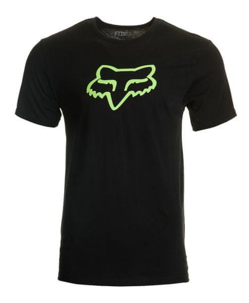 FOX pánské tričko Legacy foxhead M černá