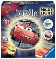 Ravensburger Disney Auta 3 - svítící puzzleball 72 dílků