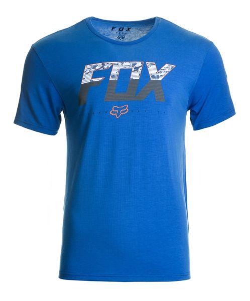 FOX pánské tričko Katch ss tech M modrá