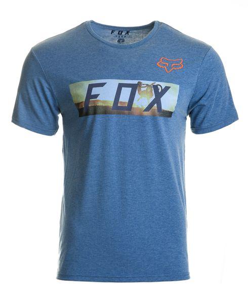 FOX pánské tričko Ghostburn ss tech M modrá