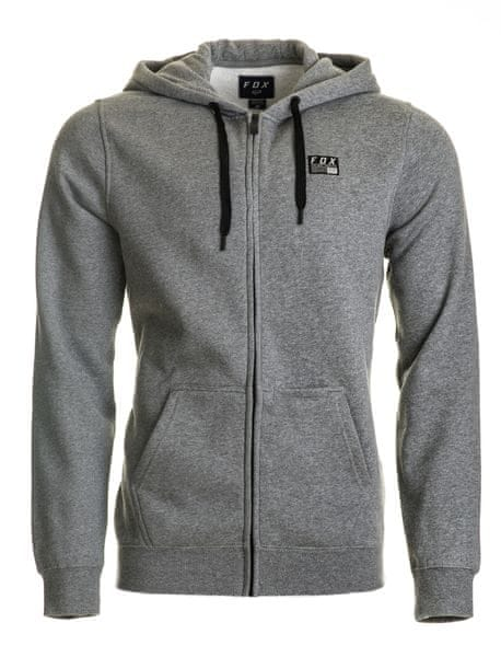 FOX pánská mikina DISTRICT 1 ZIP XL šedá