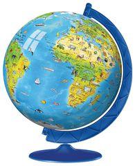 Ravensburger sestavljanka 3D otroški globus (angleški), 180 delov