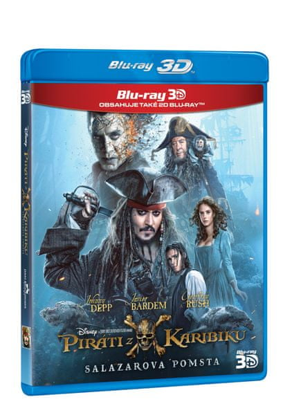 Piráti z Karibiku 5: Salazarova pomsta 3D+2D (2BD) - Blu-ray