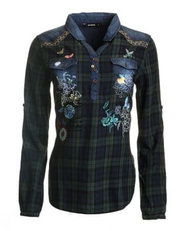 Desigual ženska bluza Gem Rep M temno modra