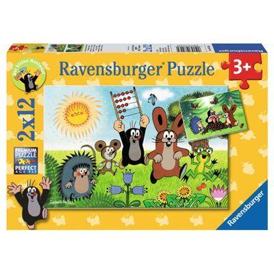 Ravensburger sestavljanka Krtek in učenje 2x12d