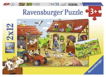 Ravensburger sestavljanka Delo na kmetiji, 2x12d