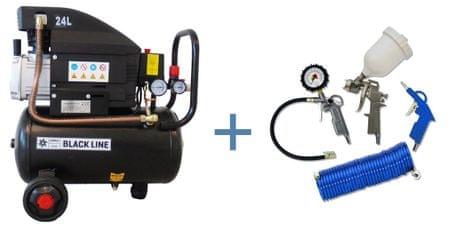 OMEGA AIR batni kompresor DB 210/24 + 4-delni set orodja - odprta embalaža