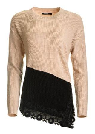 Desigual sweter damski Reia M różowy