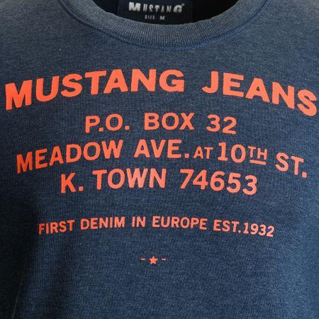 Mustang férfi pulóver L kék  06c95a3635