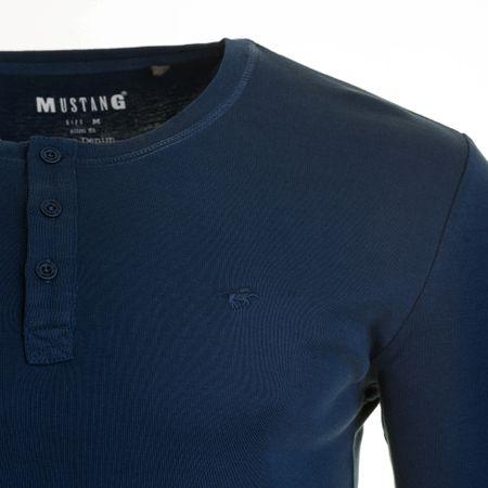 Mustang férfi póló L kék  12af1c1f26
