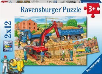 Ravensburger sestavljanka Delo na Gradbišču, 2x12d
